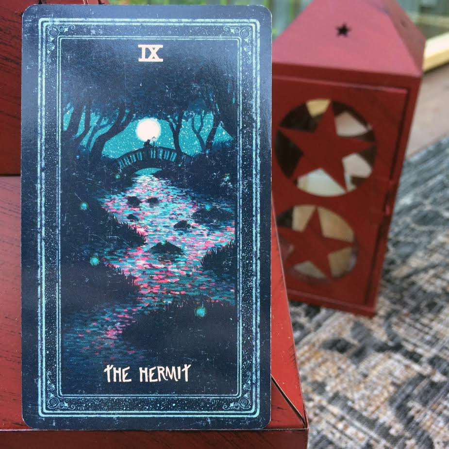 The Hermit from the Prisma Visions Tarot