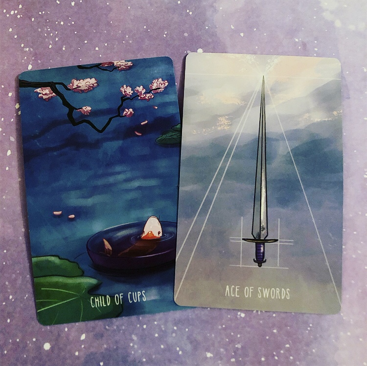 Pair Three: Child of Cups and Ace of Swords