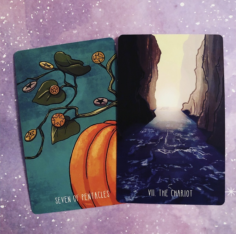Pair Four: Seven of Pentacles and the Chariot