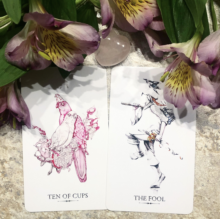Top Choice: Ten of Cups and the Fool from the Linestrider Tarot