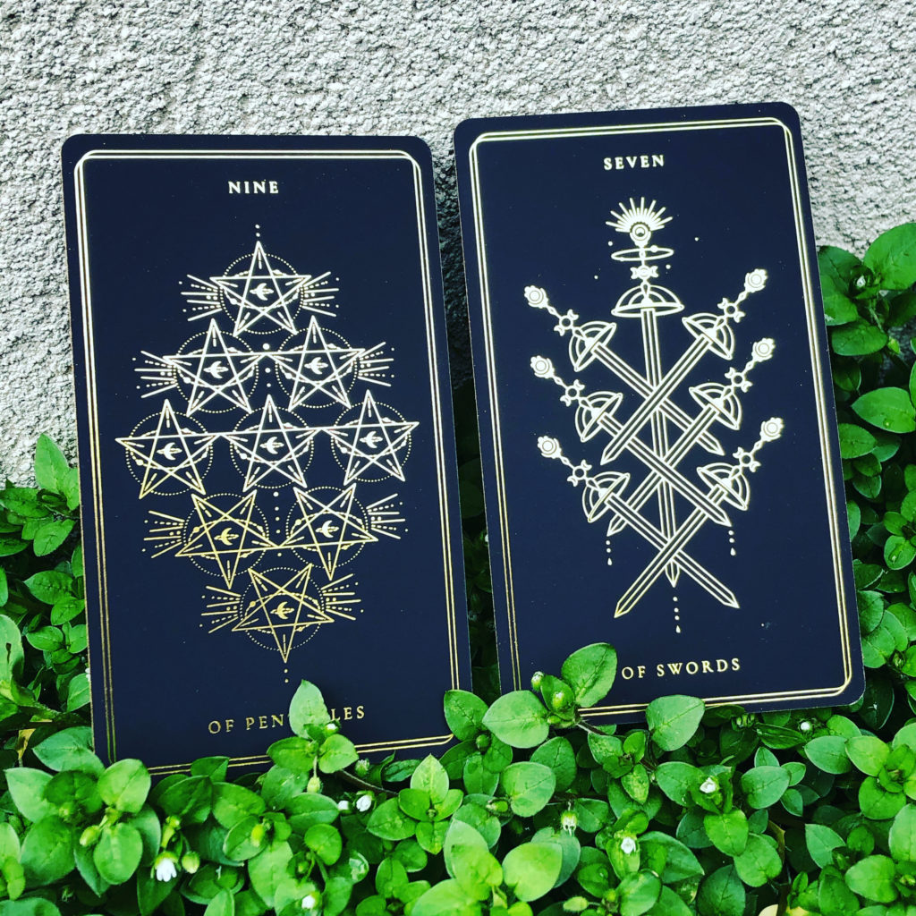 Pair One: Nine of Pentacles and Seven of Swords