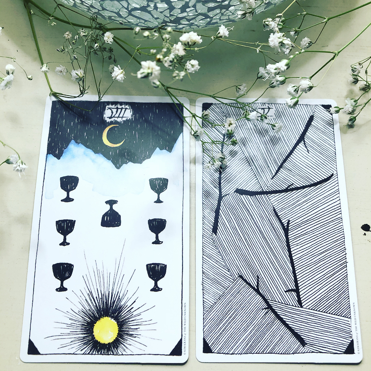 The Wild Unknown - Seven of Cups, Five of Wands