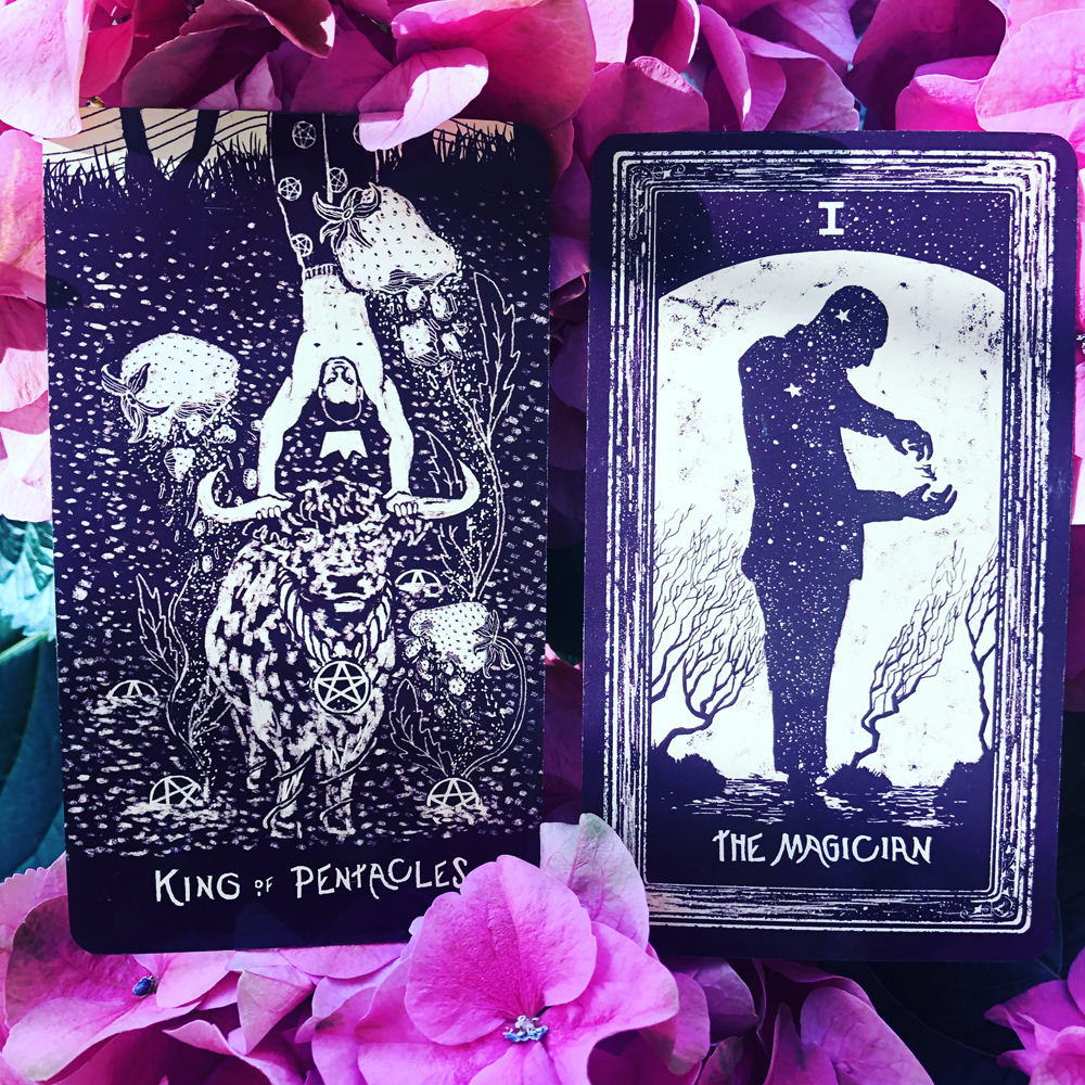 Stop: King of Pentacles, Start: The Magician
